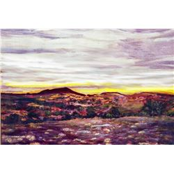 Sunset in New Mexico Vintage Classic Original Painting Artist Proof Print