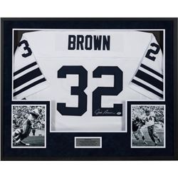 Jim Brown Hall of Fame Great Signed College Jersey Syracuse Orangemen