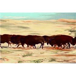 Buffalo Stampede Buffalo Bill Cody Wild West Show