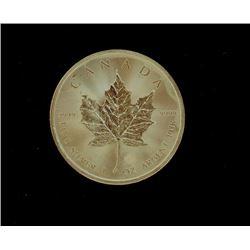 Canadian Maple Leaf 5 Dollar INCISED 1  Ounce 999 Silver Coin Bullion Round Random Date