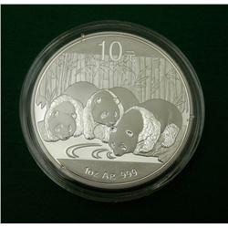 China Panda 2013 Bullion Round 1 OZ 9999 Silver