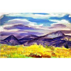 Taos New Mexico Painters Landscape Vintage  Original Oil Painting Limited Edition Print Artist Proof