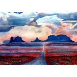 Monument Valley Original Painting Santa Fe Collection Hand touched Artist Proof Print signed