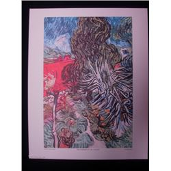 Vintage Vincent Van Gogh Prints NY. Printing House Landscape