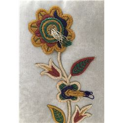 Beaded Floral Design for A Robe
