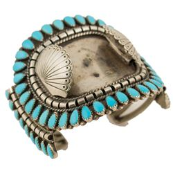 Vintage Navajo Turquoise Watch Bracelet   (40612)