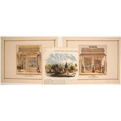 """Store of Mrs E. E. Fisher"" Hand-colored Lithograph, etc.   (74592)"