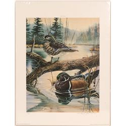 "Print / "" Backwater  Woodies""/ By Michael Glenn Monroe.   (105374)"