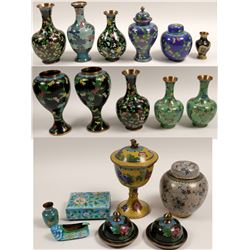 Cloisonne (set of 16 pieces)   (105452)