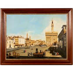 Oil Painting /  City Of Florence / By Antonio Pastore.   (102150)