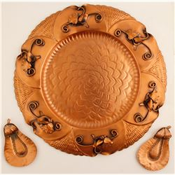 Grogovian Copper Decorative Tray   (77856)
