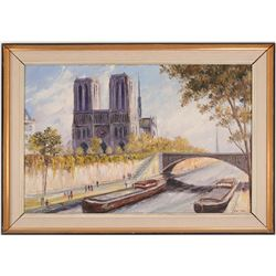 Notre Dame Painting by Van Dam   (54857)