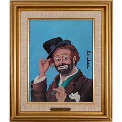 "Oil Painting by Red Skelton of ""Freddie the Freeloader""   (91348)"