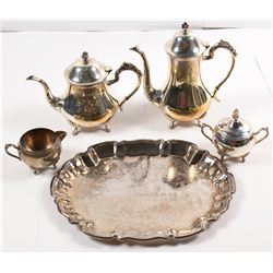 Silverplate Coffee and Tea Service   (56842)