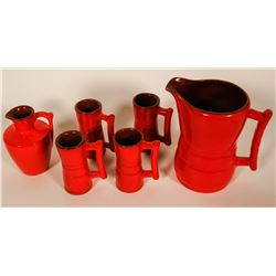 Pottery by Frankoma (Glazed, 6 pieces)   (101062)