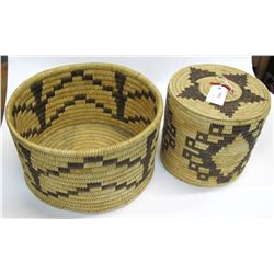 Two Large Papago Baskets   (54850)