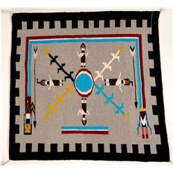Yei Navajo Rug   (91336)