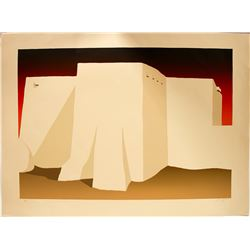 Rancho de Taos Church - Serigraph by Ron Robles   (101034)