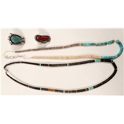 Native American Heishi Necklaces & Rings / 4 pieces   (105417)