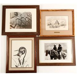 4 Framed Western Prints   (98038)