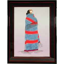 Carol's Blanket - Serigraph by RC Gorman   (101041)