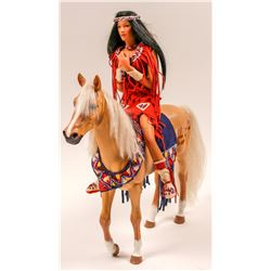 Dolls (1 horse & Indian Squaw) Contemporary   (106003)