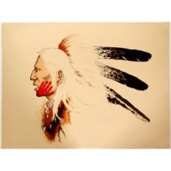 Fox Warrior - Serigraph by Enoch Kelly Haney   (101059)
