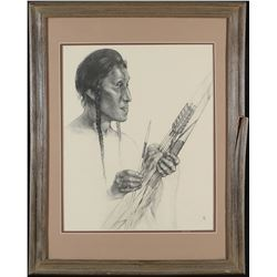 Framed Native American Print by Caples   (87619)