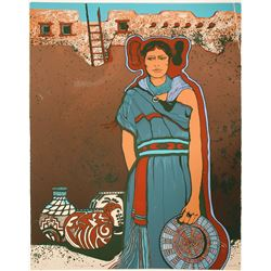 Hopi Maiden - Serigraph by Julie Lee Allen   (101053)