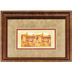 Moki Indian at Home Stereo View (Framed)   (102728)