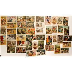 Native American Postcards Depicting Baskets   (91428)