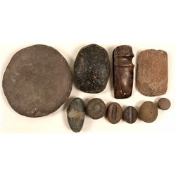 Native American Stone Artifacts (10)   (105677)