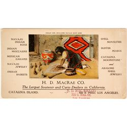 Navajo Girl Trade Card   (91420)