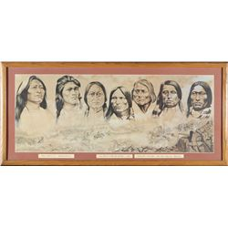 Sioux Warriors of the Little Big Horn Print   (98044)