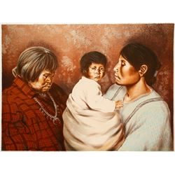 Three Daughters - serigraph by John Lightfoot   (101031)