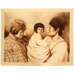 Three Daughters - serigraph by John Lightfoot   (101032)
