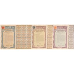 27th Year Gold Loan Bonds, Three Denominations, 1938   (106477)