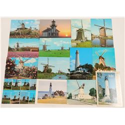 Windmill and Lighthouse Postcards   (105341)