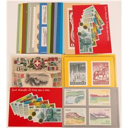 Foreign Stamp and Coin Postcards   (105340)