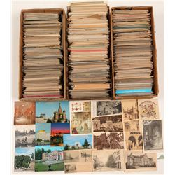Massive Foreign Postcard Collection   (105674)