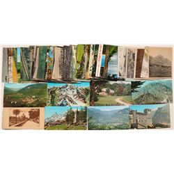 Various Postcards with Mountains in back   (91369)