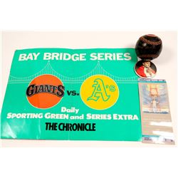 Baseball / The Giants , The Pope , & Candlestick Park / 4 Items.   (105006)