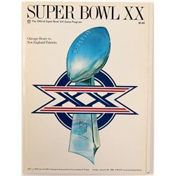 Program / Super Bowl  XX.   (105401)