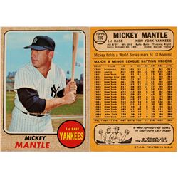Mickey Mantle 1968 Baseball Card   (104484)