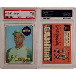 Reggie Jackson PSA 5 1969 Rookie Card   (104483)