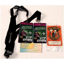 VIP Passes / Van Halen, David Lee Roth & Santana / 3 Items.   (105399)