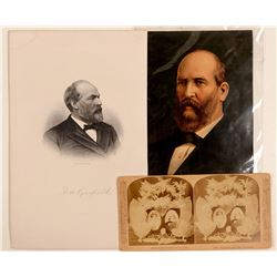 President  Garfield & Cleveland / 3 Items.   (105360)