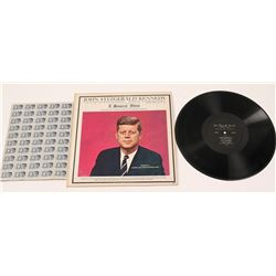 Kennedy Album & Stamp Sheet / 2 Items   (105413)