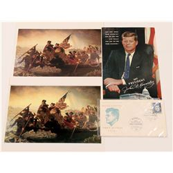 Photo's & First Day Cover / Kennedy & Washington/ 4 items..    (105410)