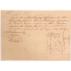 Receipt for Revolutionary War Gun Powder   (106566)